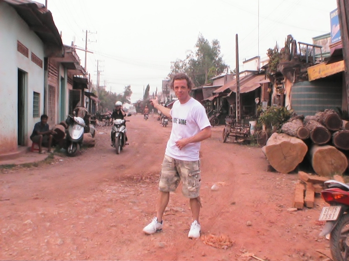 Me outside the first place, where we start to interview people in HoNai/Bien Hoa