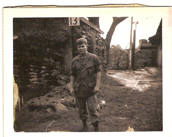 James outside the Army base in HoNai/Bien hoa
